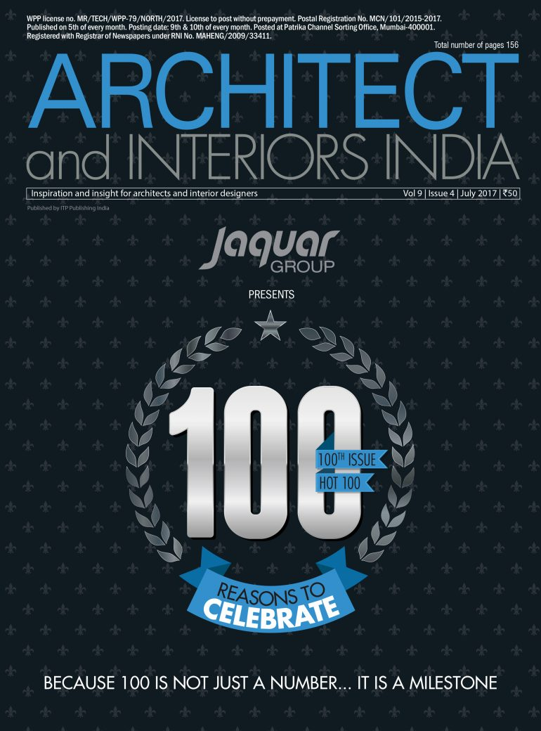 Hot 100 Architects Of India By The Prestigious Magazine And Interiors Wed Like To Thank Magazines Editor In Chief